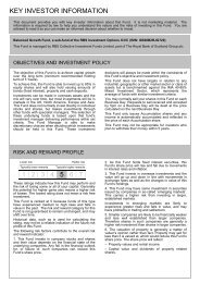 Balanced Growth Fund Key Investor Information Document - RBS