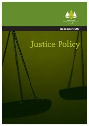 Justice Policy December 2009 - Community Law