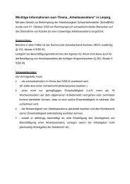 """Wichtige Informationen zum Thema """"Arbeitsassistenz"""" in Leipzig"""