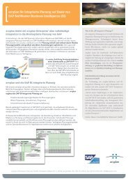 Schnittstelle von arcplan zur SAP BI integrierten Planung - Braincourt