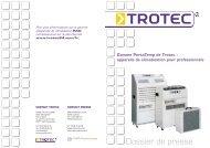Gamme PortaTemp de Trotec - Blog Maetva Relations Presse