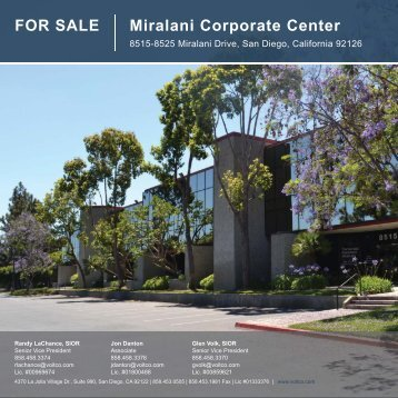 FOR SALE Miralani Corporate Center - Voit Real Estate Services