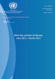 Bilan des activités du Bureau mars 2012 – février 2013