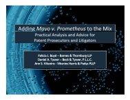 Adding Mayo v. Prometheus to the Mix g y