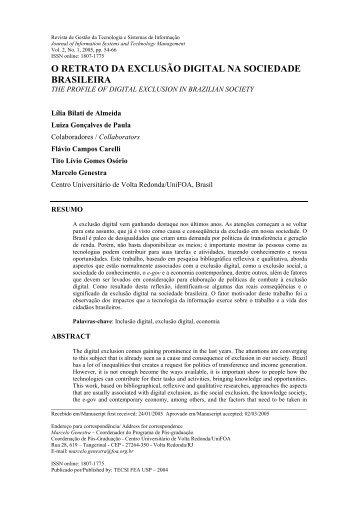 Modelo Revista de Gesto da Tecnologia de Informao - tecsi - USP