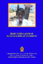 Right To Education of Internally Displaced Persons ... - IDP SriLanka