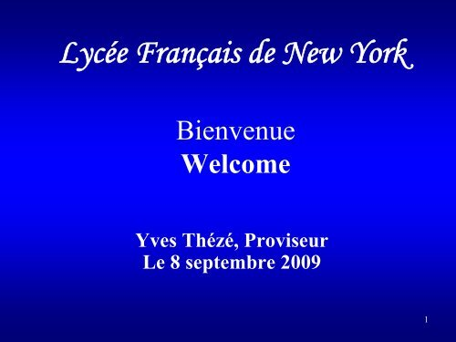 3 classes - Lycée Français de New York