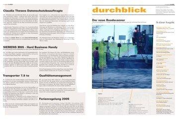 Ausgabe 05.2005 - dittgen Bauunternehmen GmbH