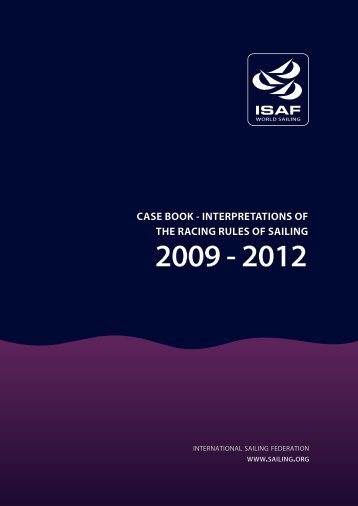 ISAF Case Book 2009-2012 - Marblehead International Class ...