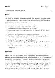 Motion Martin Brügger fremde invasive Organismen - Brugg