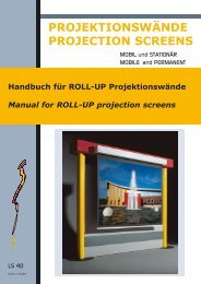PROJEKTIONSWÄNDE PROJECTION SCREENS