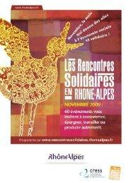 Programme des Rencontres solidaires en novembre - Loire Solidaires