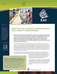 USDA Self-Help Housing Program Supports rural Minority