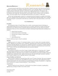 1 of 6 RESEARCH PROPOSALS A research ... - Cornell College