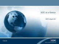 EDC at a Glance - Export Development Canada (EDC)