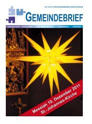 Messiah 10. Dezember 2011 St.-Johannes-Kirche - Ev.-luth ...