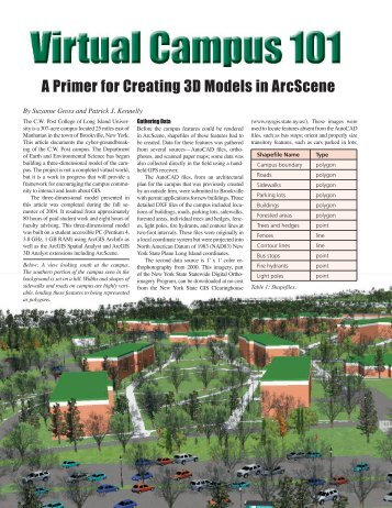 A Primer for Creating 3D Models in ArcScene - Myweb @ CW Post ...