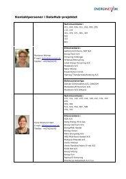 Kontaktpersoner i DataHub-projektet - Energinet.dk