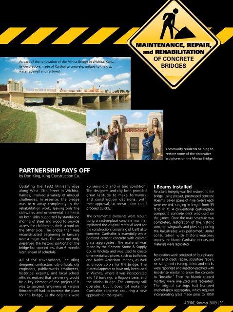 Maintenance, Repair, and Rehabilitation of Concrete Bridges