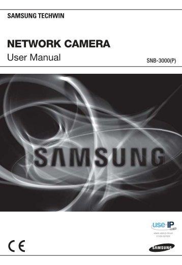 Samsung SNB-3000 Network Dome Camera User Manual - Use-IP