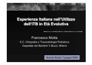 Esperienza Italiana nell'Utilizzo dell'ITB in Età Evolutiva - E. Medea