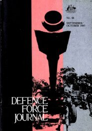 ISSUE 66 : Sep/Oct - 1987 - Australian Defence Force Journal