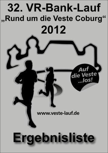 Deckblatt Ergebnisliste - Veste-Lauf - TV 1848 Coburg