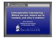 Interoperable Calendaring - Where we are, where we're headed ...