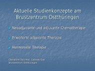Geplant: ca. 60 Kliniken/Brustzentren in enger Kooperation mit über ...