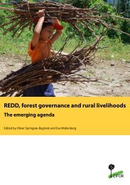 REDD, forest governance and rural livelihoods : the ... - CCAFS - cgiar