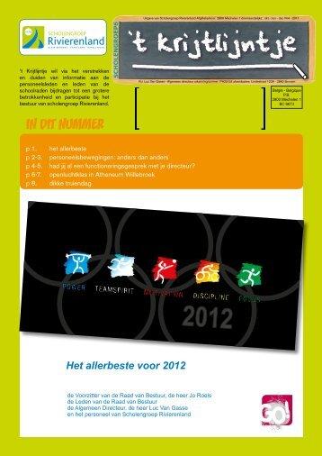 t Krijtlijntje 2011 nr 04 (okt-nov-dec) - Scholengroep Rivierenland