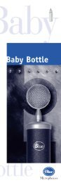 Manual for Blue Baby Bottle Microphone
