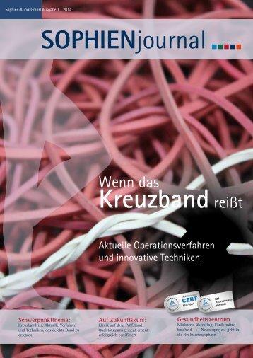 Ausgabe 1-2014 - Sophien-Kliniken Hannover