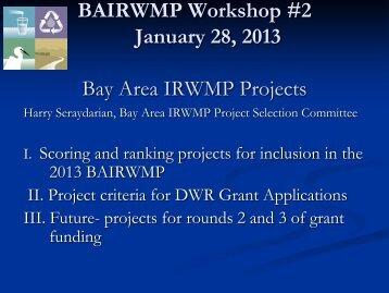 BAIRWMP Workshop#2- MASTER_Four ... - Bay Area IRWMP