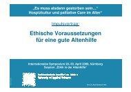 Vortrag Prof. Dr. Ruth Schwerdt M.A. - End-Of-Life-Care