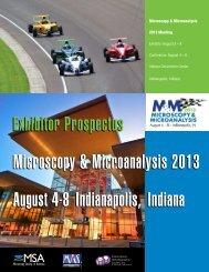 Exhibitor/Sponsor Prospectus PDF - Microscopy Society of America
