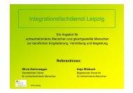 Vortrag Integrationsfachdienst Leipzig