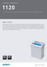 Schreibtisch-Aktenvernichter EBA 1120 - Datenblatt