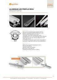 ALUMINUM LED PROFILE RD24 - Spotled