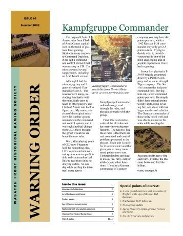 Kampfgruppe Commander - Wasatch Front Historical Gaming Society