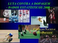 CNAD 2008 Dados estatisticos Doping FINAL