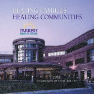 2012 Community Benefit Report