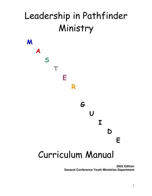 Master Guide Manual - SDA General Conference Youth Ministries