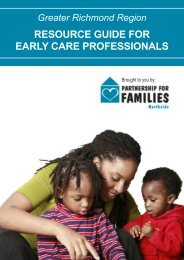 RESOURCE GUIDE FOR EARLY CARE ... - ChildSavers