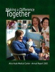 2005 Annual Report - Alice Hyde Medical Center
