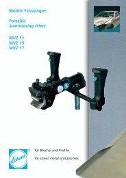 Mobile Falzzangen Portable Seamclosing Pliers MVZ 11 ... - Eckold