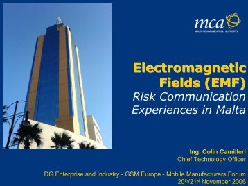 (EMF)Risk Communication Experiences in Malta