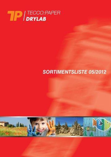 SORTIMENTSLISTE 05/2012 - Tecco