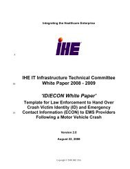 Emergency Contact Information (ECON) - IHE