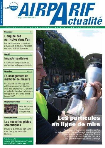 AIRPARIF Actualité N°30 - Septembre 2007